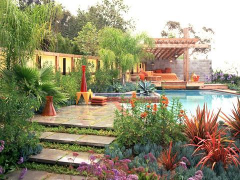 Stunning Mediterranean Garden Designs Picture